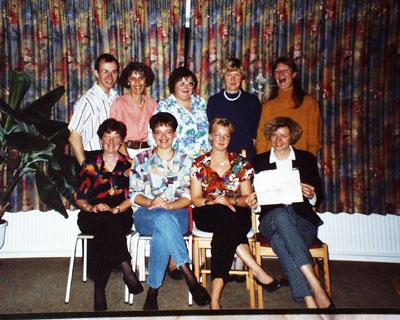 Zoneterapeutskolen i Kolding, klassefoto 1992